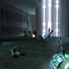 Unidades de Elite Combine movilizandose para detener a Gordon en la Ciudadela