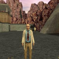 Calhoun es recibido por Rosenberg en el Acceso Sur de Black Mesa