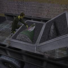 G-Man reactivando la bomba