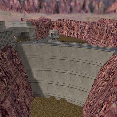 Vista de la Represa, torreta a la izquerda