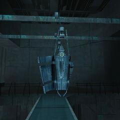 Cápsula en la que entra Gordon en Nova Prospekt
