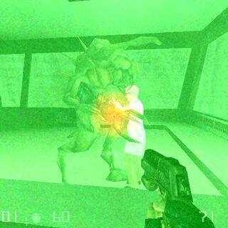 Shock Trooper abdujendo a un científico