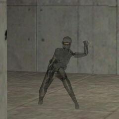 Comando Negro Asesina utilizando el Dispositivo de Camuflaje