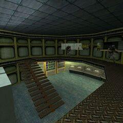 El cuarto de control.
