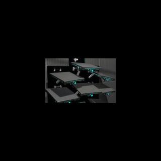 Brazos robóticos miran Chell después de una trampa inteligente hecha por GLaDOS.