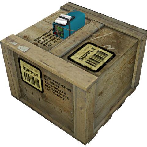 modelo de la caja con el transpondedor incorporado