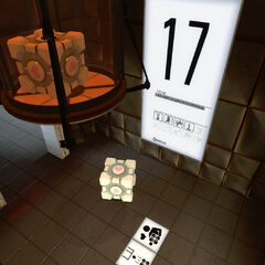 Primer encuentro con el Cubo de Compañía en la Cámara de Pruebas 17