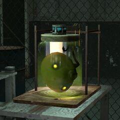 Cabeza del Cremador en el laboratorio de Eli Vance.