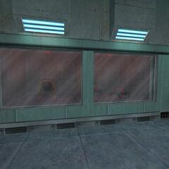 Houndeyes y Snarks encerrados para ser examinados en Black Mesa