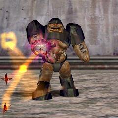 Alien Grunt disparando con el Hivehand