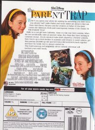 The Parent Trap DVD - back