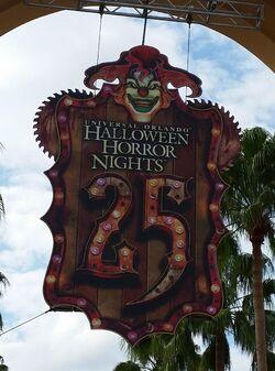 HHN 25 Front Gate Sign