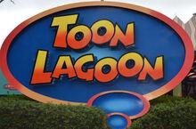 Toon Lagoon Sign