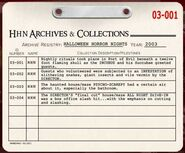 HHN 2003 Archive Registry
