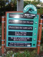 Night Prey Attractions Sign
