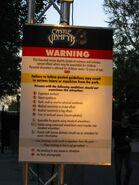 Castle Vampyr Warning Sign