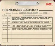 HHN 1996 Archive Registry