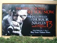 HHN 13 Parking Lot Sign