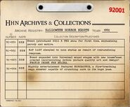 HHN 1992 Archive Registry