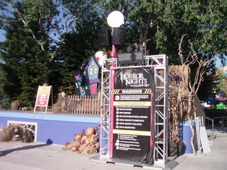 Horror Nights The Hallow'd Past entrance