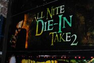 HHN Hallowd Past All Nite Die In 2 Sign