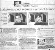 HHN13 Newspaper article