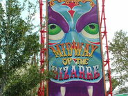 HHN Midway of the Bizarre Sign