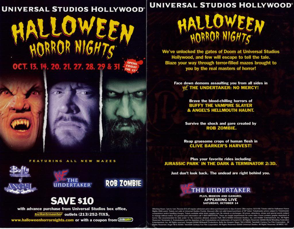 Halloween Horror Nights 2000 (Hollywood) | Halloween Horror Nights ...