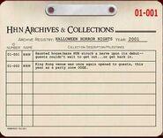 HHN 2001 Archive Registry