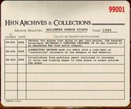 HHN 1999 Archive Registry