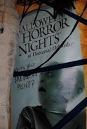 HHN Hallowd Past HHN 14 Sign