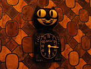 Psychoscareapy 3 Cat Clock
