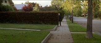 Halloween Michael Myers behind bush