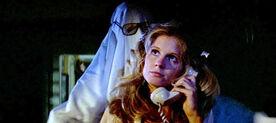 Lynda Van der Klok on phone