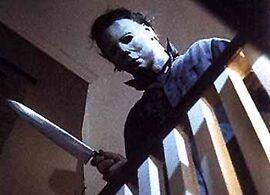 Halloween Michael Myers looks downward