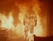 Michael Myers on fire