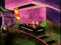 Doug, Skeeter and Roger enter the ride vehicle