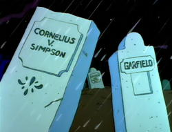 Treehouse of Horror Tombstone