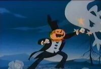 Rankin bass jack o lantern punching ghosts