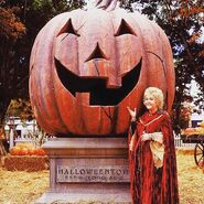 Aggie with Halloweentown Jack O'Lantern