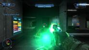 Plasma pistol firing