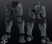 H4 Over-locking Legs 3d model