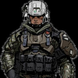 Army-Soldat mit Ausrüstung.
