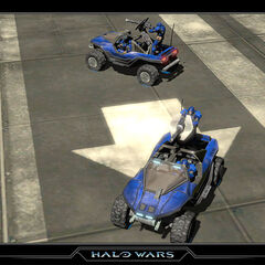 Warthog in Halo Wars.