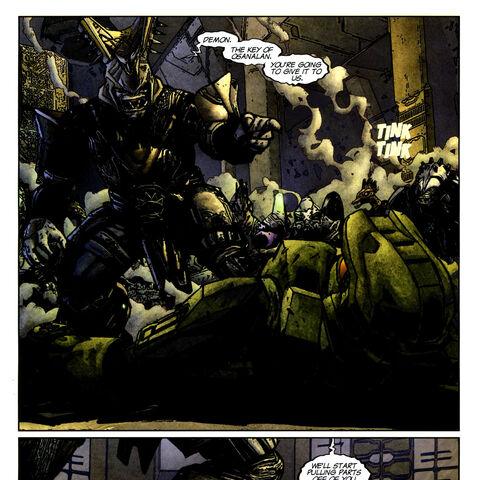 aus eins der Seiten von Halo Graphic Novel: Der Aufstand