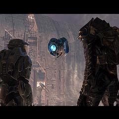L'arbiter, John e 343 Guilty Spark che elaborano un nuovo piano per debellare la piaga dei Flood