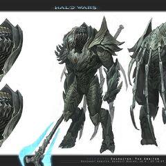 Eine frühere Idee, des Gebieters in Halo Wars.