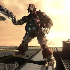 Un Brute Jump Pack Maggiore in Halo 3: ODST