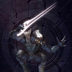 L'arbiter con lama energetica in Halo 2