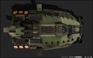 Mastodon modelo 3D vista aérea HW2
